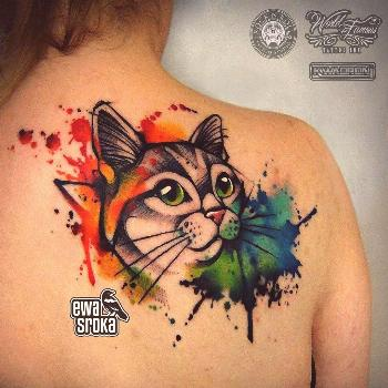 --   -  Tattoo cat color tat 61+ Ideas  This Beautiful Watercolor Cat ... is listed (or ranked) 1