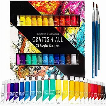 Crafts 4 All Acrylic Paint Set - 24 -Pack Painting Supplies