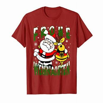 German Christmas T-shirt Germany Frohe Weihnachten Frohliche