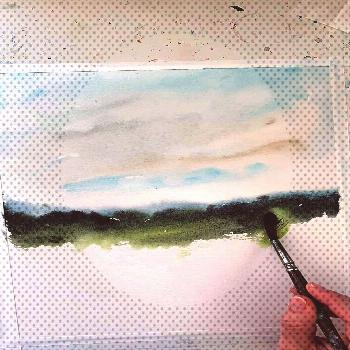 of Painting Wildflower Field  Watercolor landscape paintingYou can find Aquarelle painting easy and