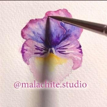 Watercolor pansy tutorial  Hi there! my first short watercolor tutorial . Thanks for watching