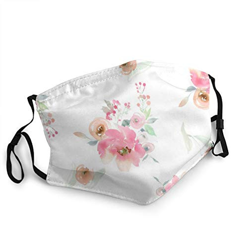 Aquarell Blumen Und Designs Mouth Cover for Women,Face Mask