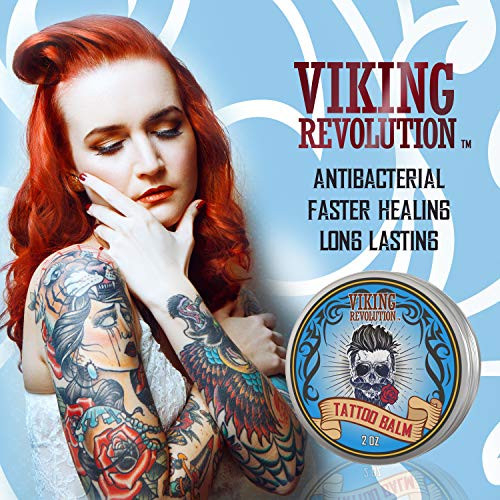 Viking Revolution Tattoo Care Balm for Before, During amp Post