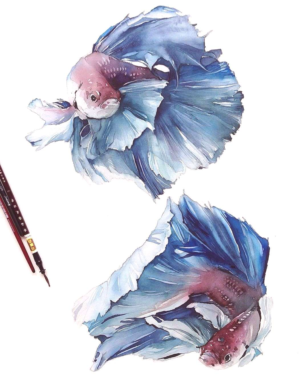 """Watercolor Aquarelle Акварель on Instagram """"More art every day on @watercolor_daily ✔"""