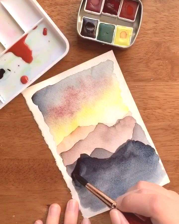 Watercolor landscape tutorials Learn to paint easy watercolor landscapes in my Skillshare classes!
